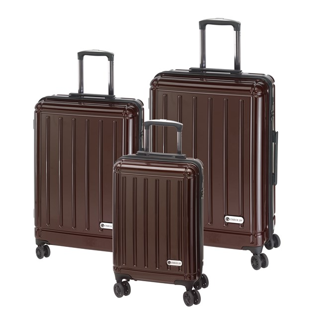 Trolley-Set HALIFAX carbon brown 56-2210406