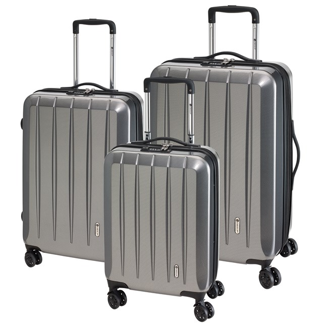 Trolley-Set LONDON 2.0 carbon silver 56-2210671