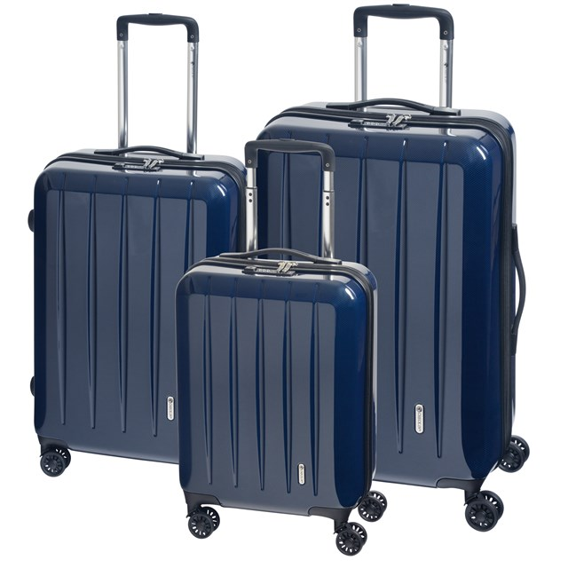 Trolley-Set LONDON 2.0 carbon blue 56-2210673