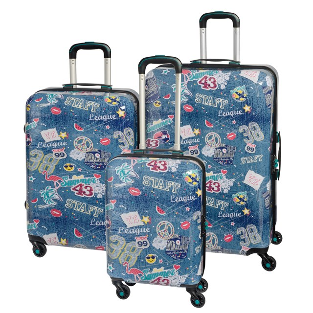 Trolley-Set SAN FRANCISCO jeans blue 56-2210691