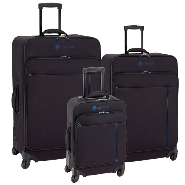 Trolley-Set MADRID blue / black 56-2210702
