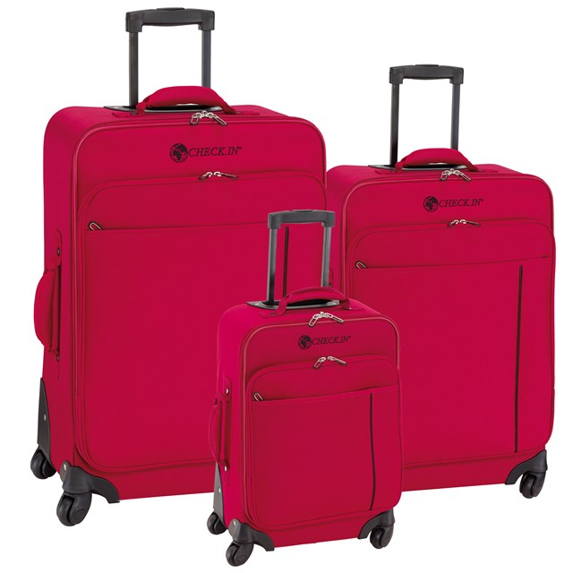 Trolley-Set MADRID red / black 56-2210703
