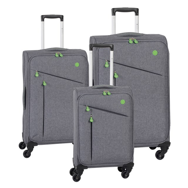 Trolley-Set LISSABON grey / green 56-2210705
